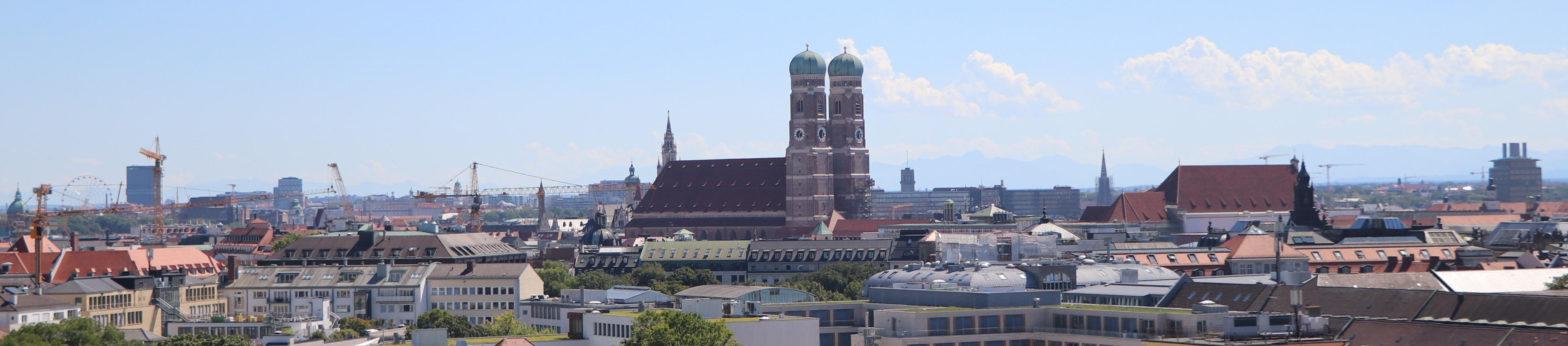 Panorama-Aufnahme von München symbolisiert Unternehmen ASSD mit Hauptsitz in München